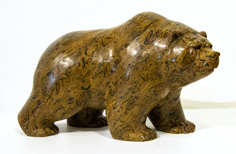 Ken Q Li artwork 'GRIZZLY BEAR' available at Canada House Gallery - Banff, Alberta