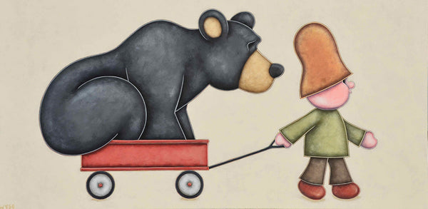 Peter Wyse artwork 'HITCHING A RIDE' available at Canada House Gallery - Banff, Alberta
