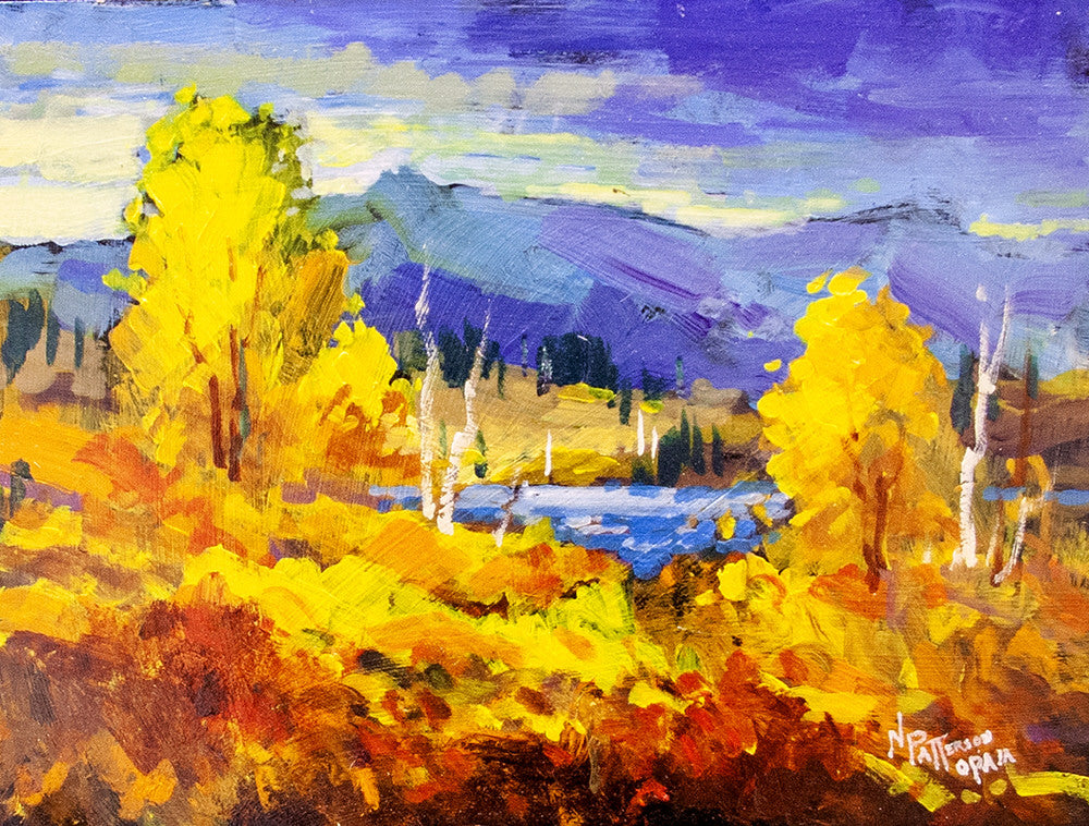 Neil Patterson artwork 'FALL LAKE' available at Canada House Gallery - Banff, Alberta