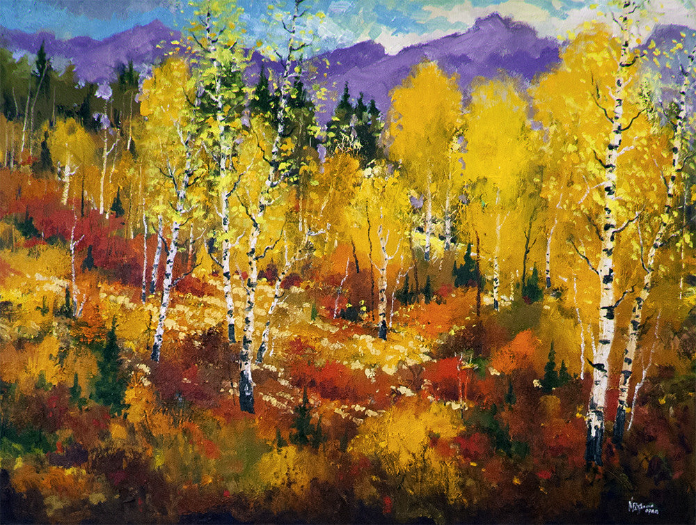 Neil Patterson artwork 'FALL IN ALBERTA' available at Canada House Gallery - Banff, Alberta