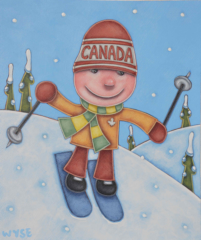 Peter Wyse artwork 'SPEEDY' available at Canada House Gallery - Banff, Alberta