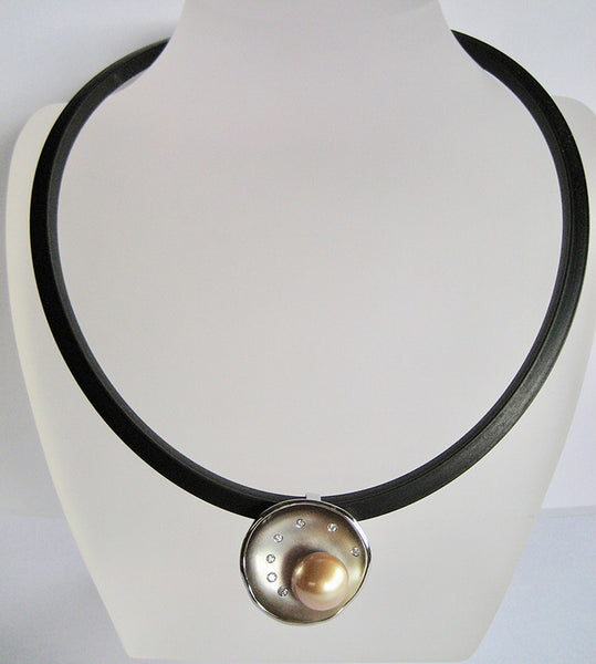 Susan Kun artwork 'OPULENT SOUTH SEA PEARL PENDANT' available at Canada House Gallery - Banff, Alberta