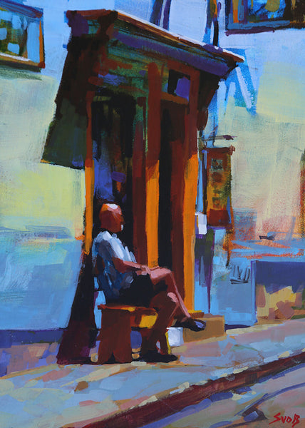 Mike Svob artwork 'OPEN FOR ? (LUNENBURG, NS)' available at Canada House Gallery - Banff, Alberta