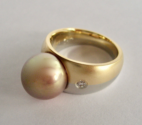 Susan Kun artwork 'MINIMALIST EDISON PEARL RING' available at Canada House Gallery - Banff, Alberta