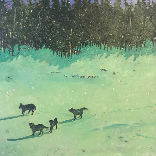 Michael Cameron artwork 'WOLF STUDY' available at Canada House Gallery - Banff, Alberta