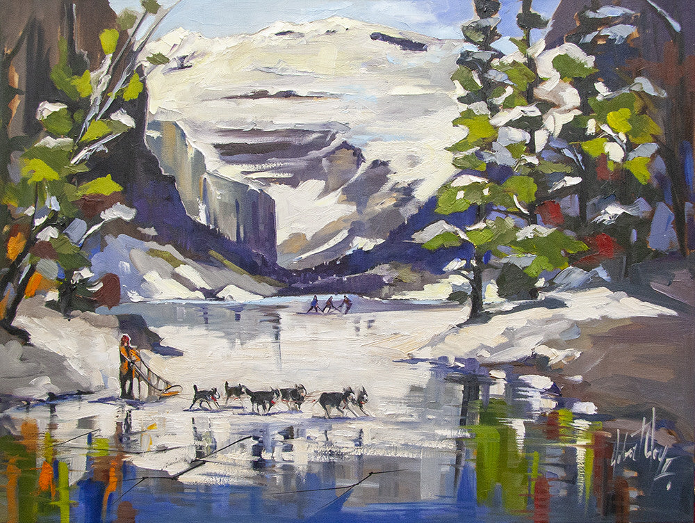 Robert Roy artwork 'SOUVENIR DE VOYAGE' available at Canada House Gallery - Banff, Alberta
