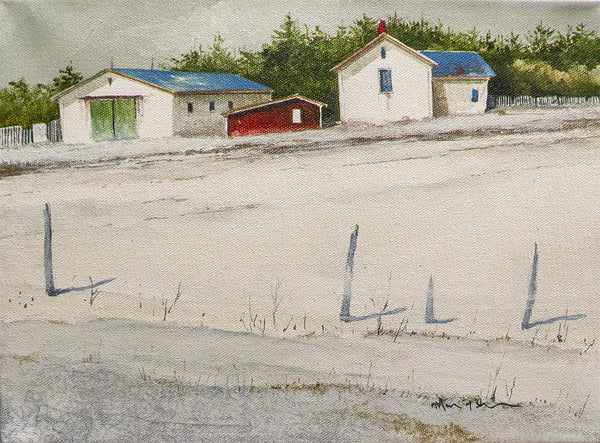 Mark Fletcher artwork 'SNOW LINES' available at Canada House Gallery - Banff, Alberta