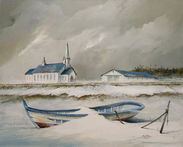 Mark Fletcher artwork 'WINTER ON THE NORTH SHORE' available at Canada House Gallery - Banff, Alberta