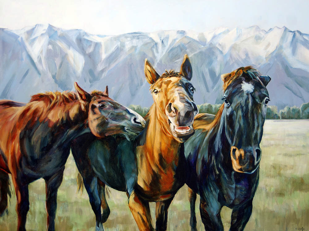 Susie Cipolla artwork 'WILD & CRAZY' available at Canada House Gallery - Banff, Alberta