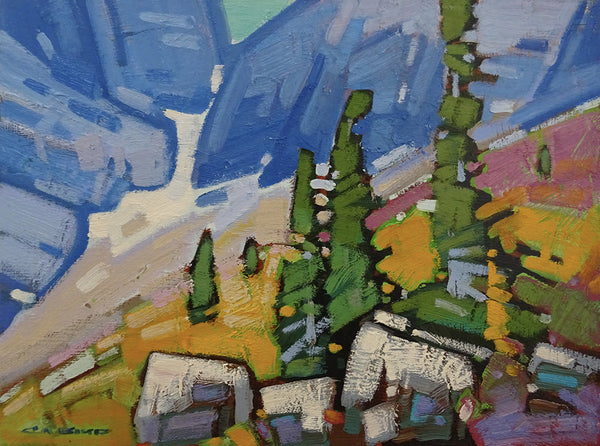 Cameron Bird artwork 'SNOW PATTERN STUDY - ROGERS PASS' available at Canada House Gallery - Banff, Alberta