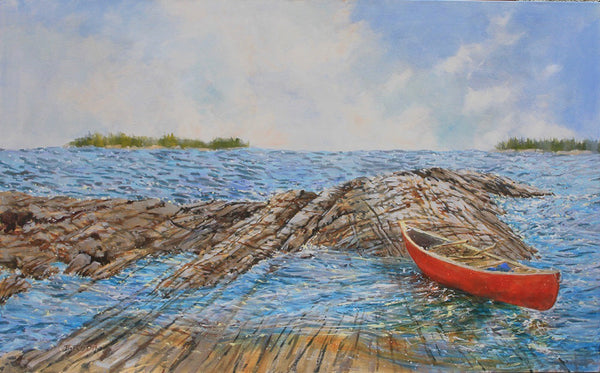 Bev Rodin artwork 'NEW ADVENTURES' available at Canada House Gallery - Banff, Alberta