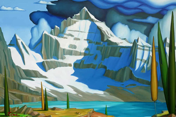 Glenn Payan artwork 'LAKE MCARTHUR MT BIDDLE, YOHO' available at Canada House Gallery - Banff, Alberta
