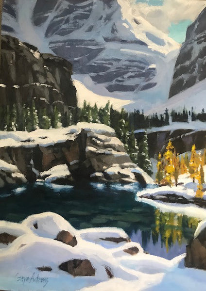 Gaye Adams artwork 'STUDY OF LAKE VICTORIA' available at Canada House Gallery - Banff, Alberta