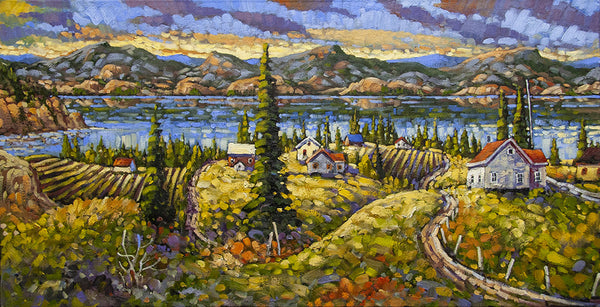 Rod Charlesworth artwork 'HARVEST LIGHT, OKANAGAN' available at Canada House Gallery - Banff, Alberta
