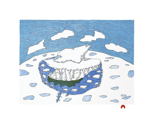 Ooloosie Saila artwork 'SOLITARY ICEBERG  9/50' available at Canada House Gallery - Banff, Alberta