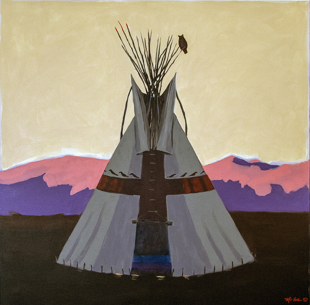 Terry McCue artwork 'SUNSET' available at Canada House Gallery - Banff, Alberta