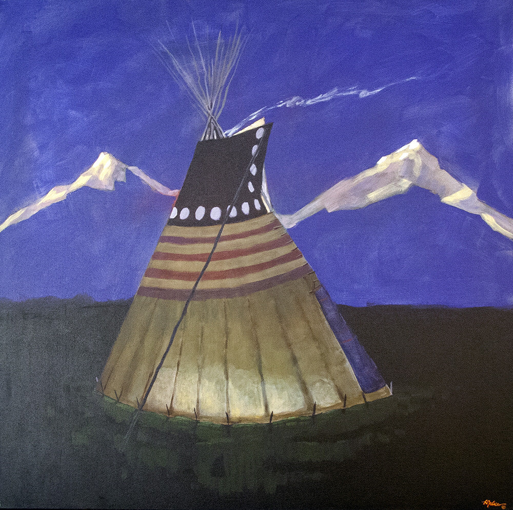 Terry McCue artwork 'STAR LODGE' available at Canada House Gallery - Banff, Alberta