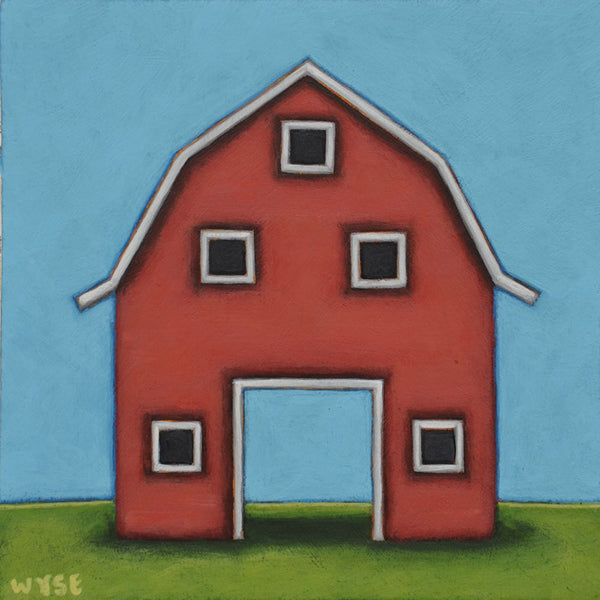 Peter Wyse artwork 'THE RED BARN' available at Canada House Gallery - Banff, Alberta