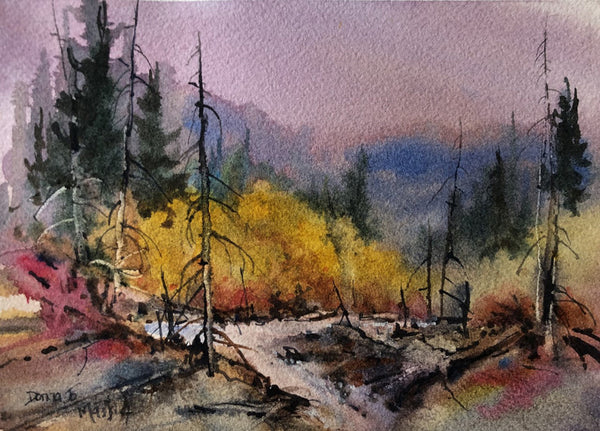 Donna Jo Massie artwork 'FALL POPLARS' available at Canada House Gallery - Banff, Alberta