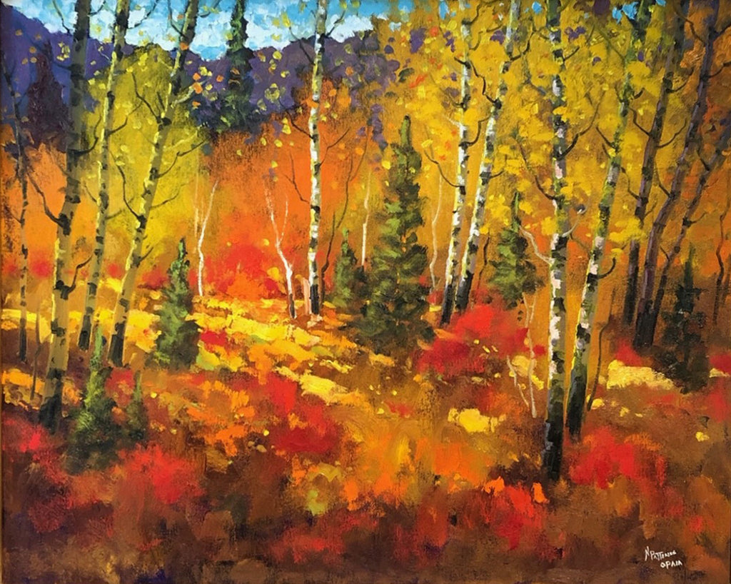 Neil Patterson artwork 'IN THE CLEARING' available at Canada House Gallery - Banff, Alberta