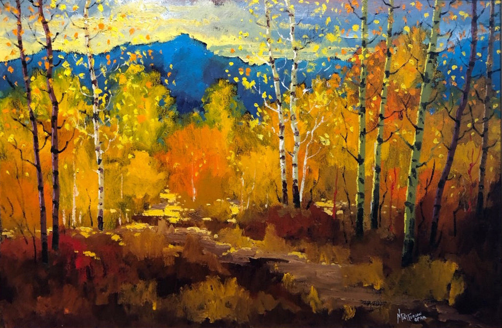Neil Patterson artwork 'COLOURS OF FALL' available at Canada House Gallery - Banff, Alberta