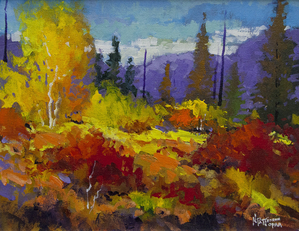 Neil Patterson artwork 'FALL DAY' available at Canada House Gallery - Banff, Alberta