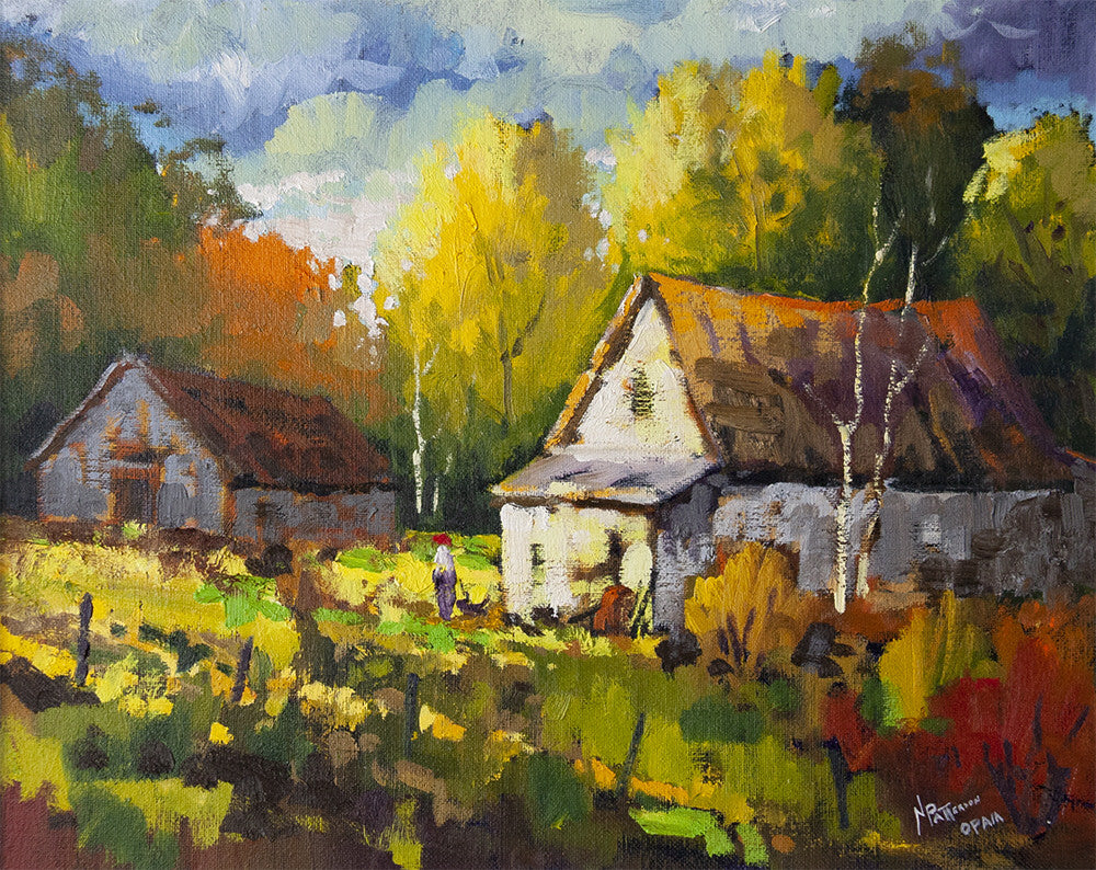 Neil Patterson artwork 'HOMESTEAD' available at Canada House Gallery - Banff, Alberta