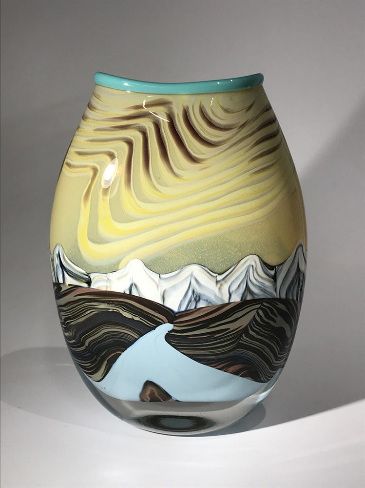 Ryan Bavin artwork 'SUMMIT VASE #201123-1' available at Canada House Gallery - Banff, Alberta