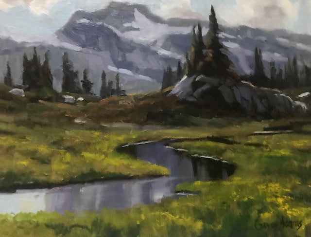 Gaye Adams artwork 'SEMAPHORE MEADOWS - STUDY' available at Canada House Gallery - Banff, Alberta