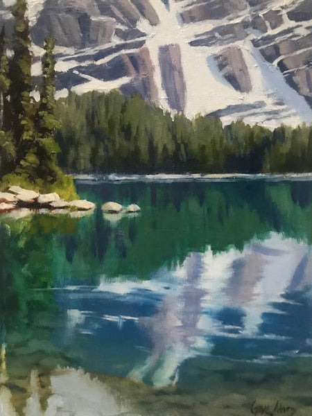 Gaye Adams artwork 'REFLECTIONS' available at Canada House Gallery - Banff, Alberta