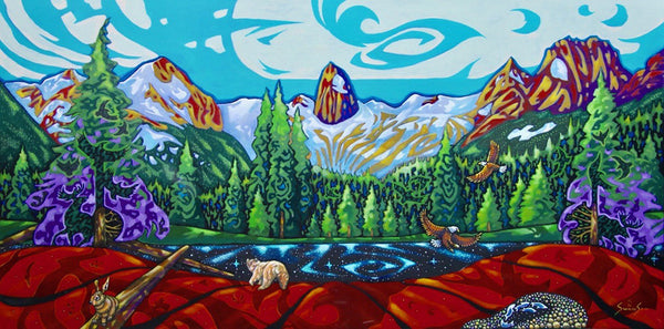 K Neil Swanson artwork 'JEWEL OF THE PURCELLS' available at Canada House Gallery - Banff, Alberta