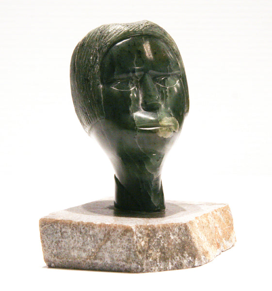 Samson Nastapoka artwork 'INUK PORTRAIT BUST C 1970'S' available at Canada House Gallery - Banff, Alberta