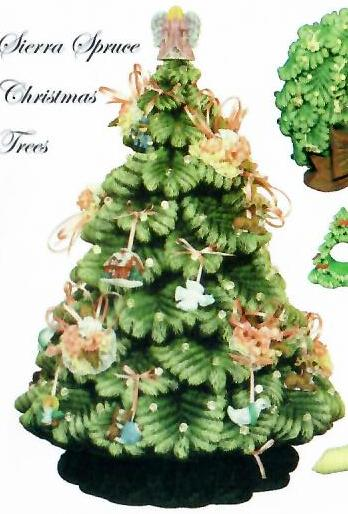 #1684 Sierra Spruce Tree (Small) - Mini Ornaments (10 in mold)  3-4