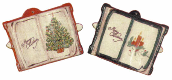 #1287 Book Ornaments (Plain) (2 in mold)  3