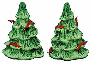 "#1291 Original Style - Tree Salt & Pepper  3 1-4"" each"