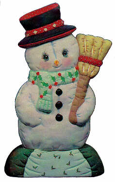 #1366 Snowman with Broom  14