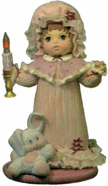 #1449 Doll with Candle, Large (Laura)  16 1-2