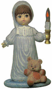 #1463 Doll with Candle, Large (Andrew)  16""