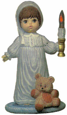 #1463 Doll with Candle, Large (Andrew)  16
