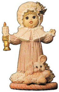 #1500 Doll with Candle, Small (Laura)  8 1-2""