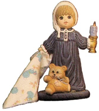 #1501 Doll with Candle, Small (Andrew)  8 1-2
