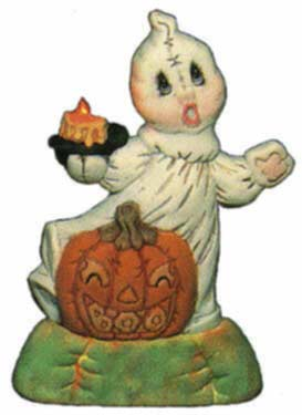 #1508 Light-Up Ghost with Pumpkin  8