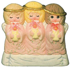 #1511 Light-Up Three Small Angels  8""