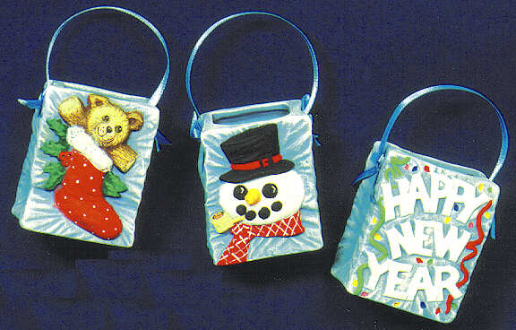 #1689 Bag Ornaments(New Year-Snowman-Stocking)  2