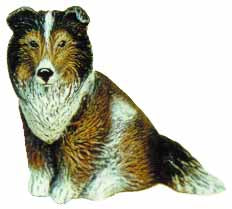 #1709 Small Dog - Shelty Or Collie  3 3-4
