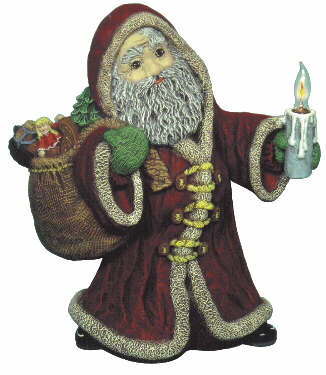 #1731 Santa with Candle  16