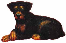 #1738 Small Dog - Rotweiler  4 1-2