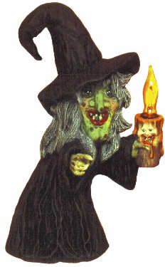 #1751 Witch Holding Candle  10 1-2