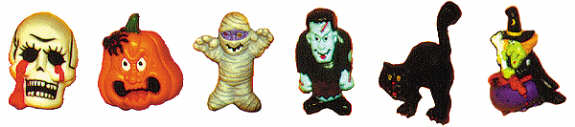 #1754 Halloween Magnets (6 in mold)  1 1-2