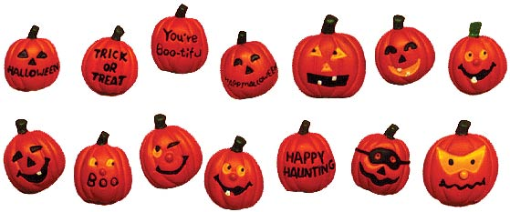 #1755 Halloween Magnets (14 in mold)  1 1-4
